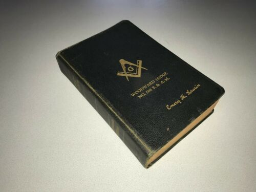 1940 Holy Bible Holman Masonic Edition Woodward Lodge Illustrated