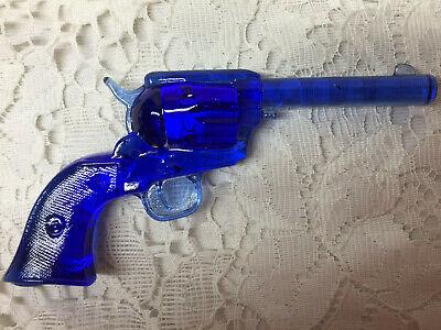 Blue Vaseline glass Colt Revolver pistol uranium single action army gun / python