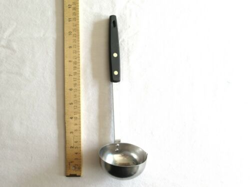 "Vtg EKCO FORGE Soup Ladle Stainless USA Black Rivets Handle Kitchen Utensil 11"""