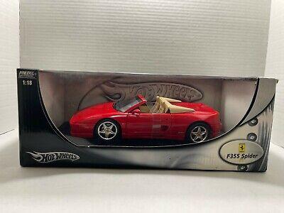 Hot Wheels 1:18 Die Cast Metal Car 1994 Ferrari F355 Spider Red