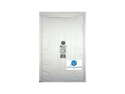 5 JL6 White 315 x 450mm Bubble Padded JIFFY AIRKRAFT Postal Bag Envelope