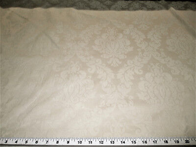 Discount Fabric Upholstery Drapery Jacquard Damask Floral Taupe CC21