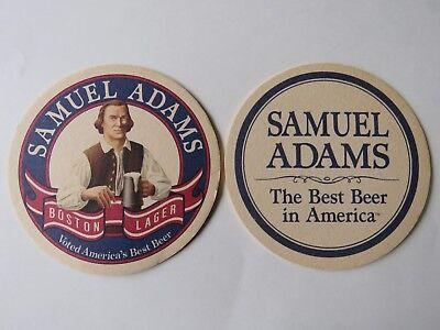 Beer Brewery Coaster ~ SAMUEL ADAMS ~ Voted Best Beer in America ~ Boston
