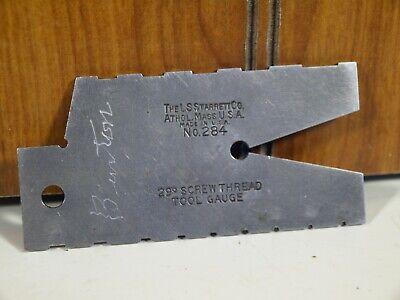 Vintage Ls Starrett No. 284 29 Degree Screw Thread Machinist Tool Gauge