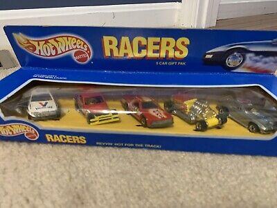 HOT WHEELS RACERS 5 CAR GIFT PACK 63 Corvette Gremlin T-bucket Valvoline Stocker