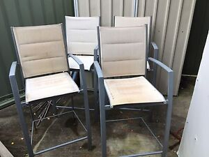 4 x Outdoor Cocktail Height Chairs Warners Bay Lake Macquarie Area Preview