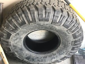"37"" 12. R15 Goodrich tires only have 3"