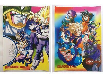 Dragon Ball Z Goku Cell Vegeta Trunks Gohan Anime Set of 2 Poster Rare New Lot
