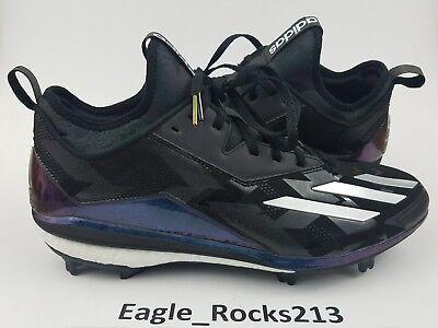 premium selection ecba7 4e9df 119 Adidas Energy Boost Icon 2 Xeno Mens Baseball Cleats Sz 12.5 Black  White