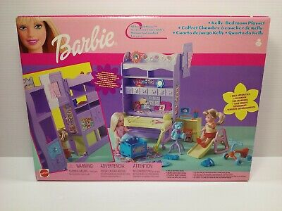 Barbie Doll Sister Kelly Bedroom Playset Toy Set 2001 by Mattel