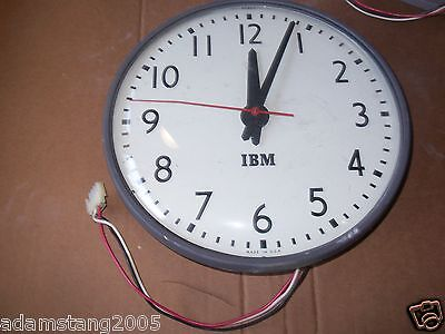 Used, IBM VINTAGE CV 12 HOUR HARDWIRE SURFACE MOUNT CLOCK for sale  Rochester