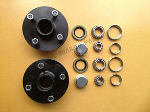 4-STUD-GEMINI-HUBS-WITH-FORD-BEARING-KITS-TRAILER-HUBS-Trailer-Parts