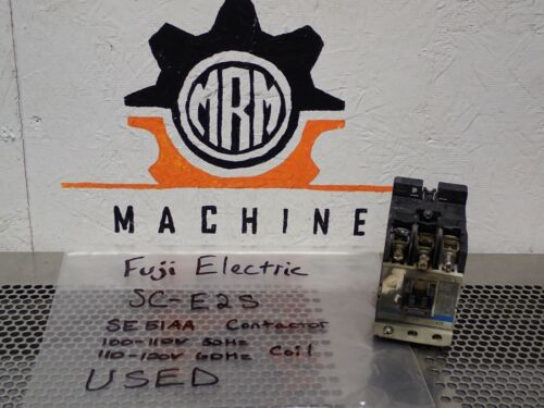 Fuji Electric SC-E2S SE51AA Contactor 100-110V 50Hz 110-120V 60Hz Coil Warranty