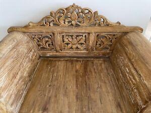 Samsara carved Balinese armchair