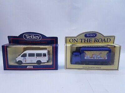 2 Vintage LLEDO Tetley's Teas Vans/ Trucks/ Cars UNUSED and BOXED