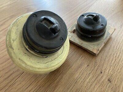 Pair Of Bakelite Light Switches