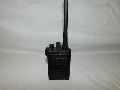 Motorola Saber 1e 24 Channel Vhf 146-162mhz Analog Portable Radio Mdc1200 Tested