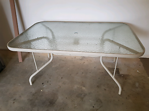 Outdoor glass table $50ono Lonsdale Morphett Vale Area Preview