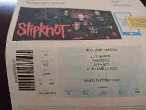 Slipknot concert ticket Bendigo Bendigo City Preview