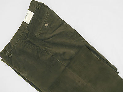 NEW $179 Orvis Stretch Super Cords Pants!  34  *Plain Front*  Green **See Note** (Orvis Stretch Cord)