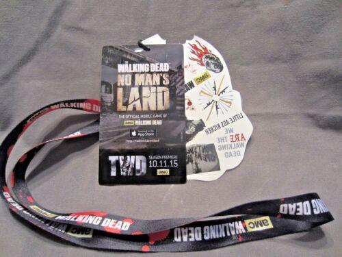 The Walking Dead 2015 AMC Fan Season Premiere Lanyard, Pass Badge, Tattoos