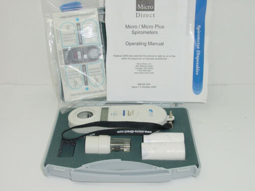 Micro Direct MS01 Battery Powered HandHeld Gold Standard Micro Spirometer