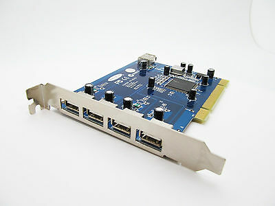 Apple Mac Macintosh G3 G4 G5 5 Port USB 2.0 PCI Controller Card OS9 OSX Upgrade
