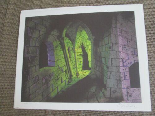 Disney Eyvind Earle signed Sleeping Beauty Maleficent giclee animation Print