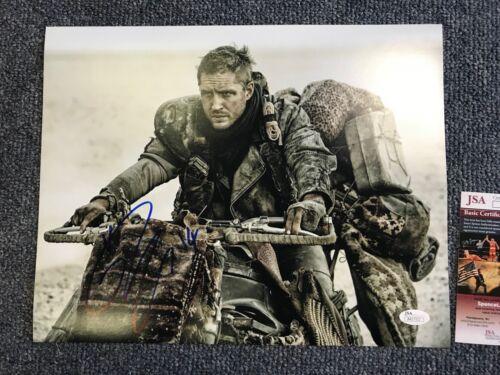 Mad Max Tom Hardy Autographed Signed 11x14 Photo JSA COA #1