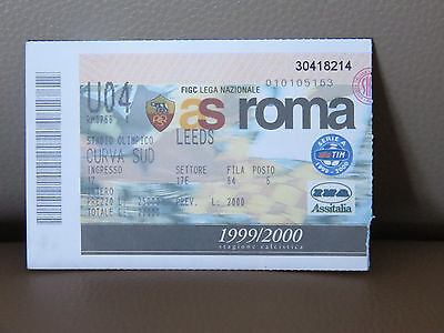TICKET : AS ROMA - LEEDS UNITED COUPE UEFA 1999-2000