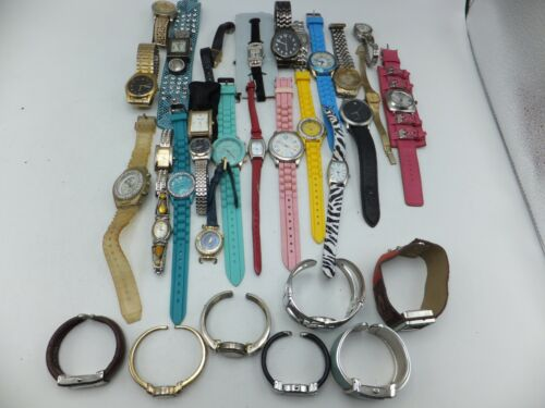Lot Of 30+ Geneva, Milan Womens / Mens Fashion / Bracelet Watches - Sold As-Is