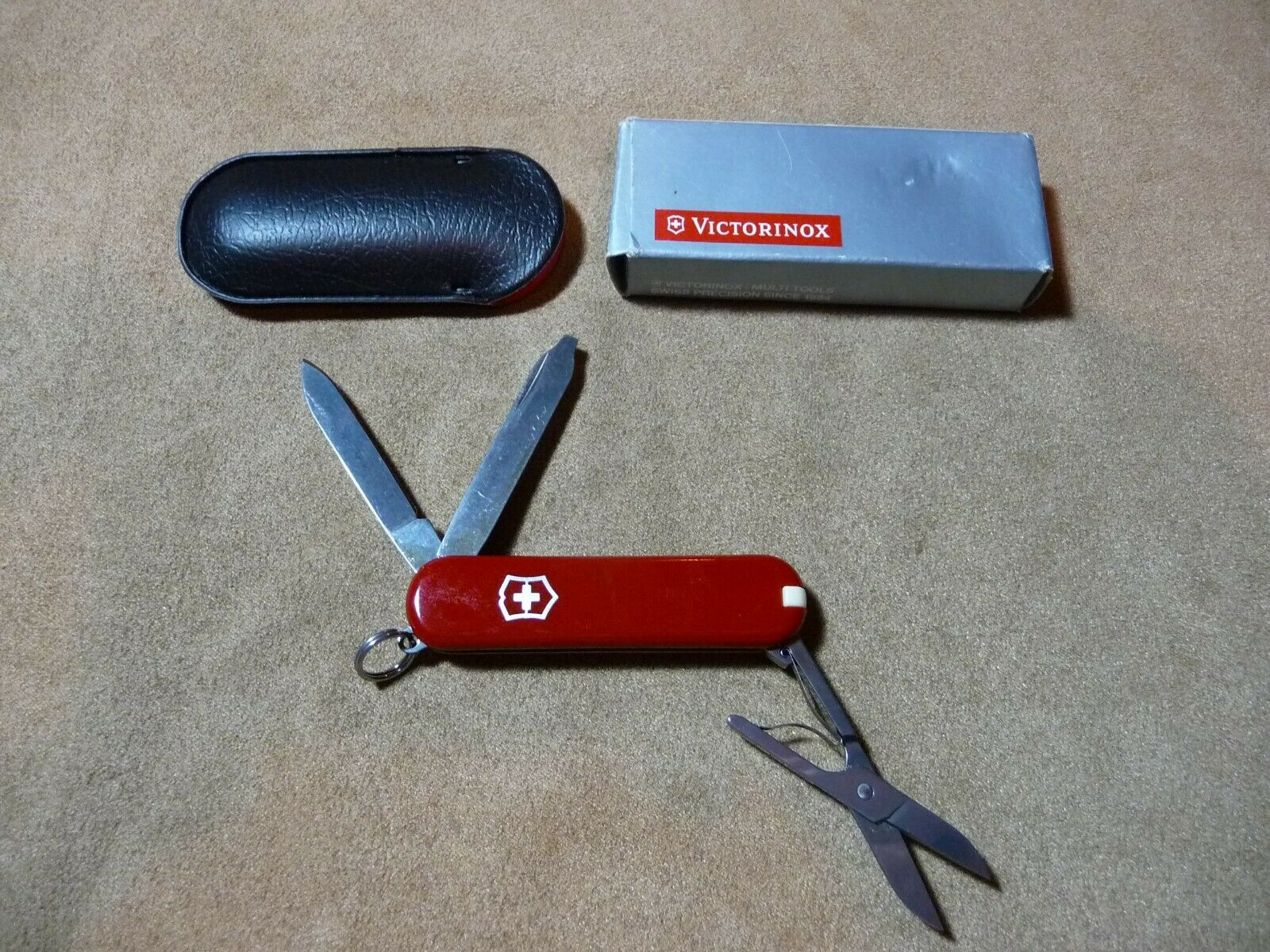 NOS Victorinox Swisss Army Rostfrei Folding Knife Case - 5 Stainless Tools - $10.00