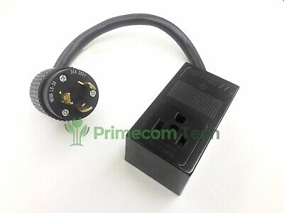 L6-30p 3-prong Twist Lock Plug 250 Volt To 6-50r Welder Receptacle Adapter