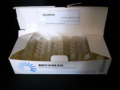 Box Of 46 Beckman Spinco Optiseal 4.9ml Centrifuge Tubes Plugs 13 X 48 Mm