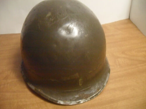 WWII US M1 helmet front seam