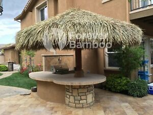 12 Palapa Mexican Palm Thatch Round Tiki Umbrella Cover Forever Bamboo