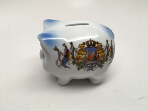 Vintage Porcelain PIG Coin Bank - Made in Germany - MINT!