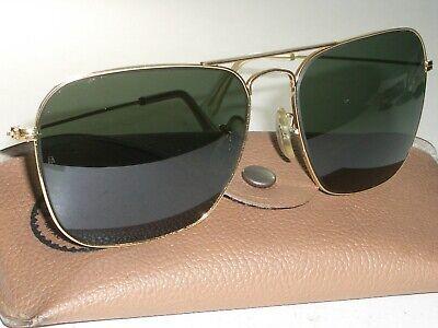 1970's 58[]16MM B&L RAY-BAN GOLD G15 NAVAL COMMAND CARAVAN AVIATOR (Naval Aviator Glasses)