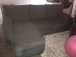 Dark Grey sectional and chair - PERFECT condition