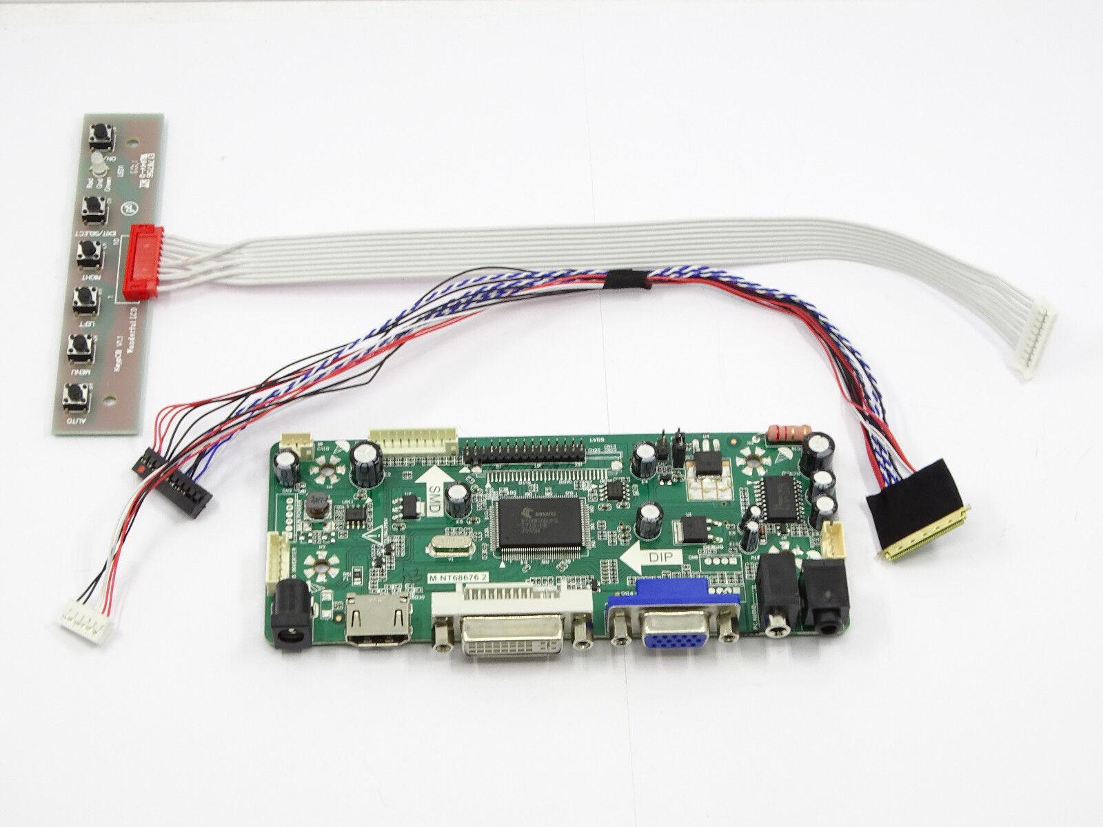 LCD Controller Board Driver kit for CLAA154WA05A HDMI + DVI + VGA M.NT68676