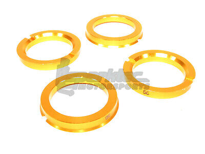 ::Project Kics Aluminum Flange Hub Centric Rings 73-56 73mm OD to 56mm ID Set of 4
