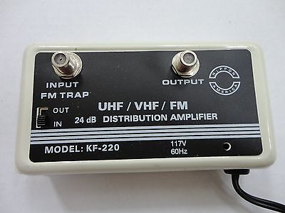 24dB Cable TV Antenna High Performance Booster Signal Amplifier, UHF/VHF/FM