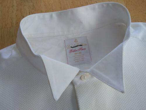 NWOT Brooks Brothers Golden Fleece White Formal Shirt 15.5-34 MSRP $225