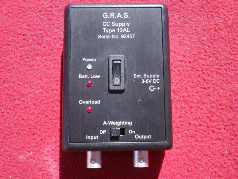 GRAS Type 12AL 1-Channel CCP Power Module with A-Weighting Filter