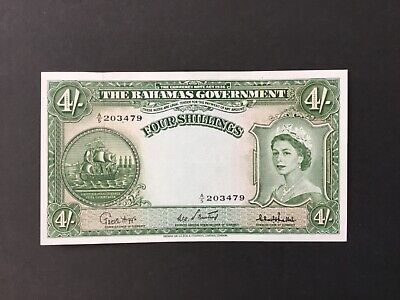 1953 THE BAHAMAS GOVERNMENT $4 SHILLINGS.