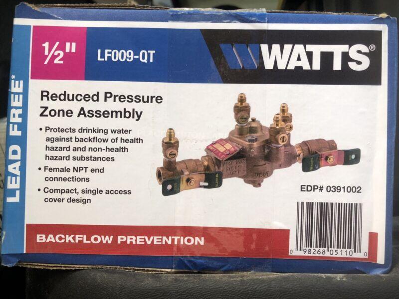 """NIB Watts Backflow Preventer 1/2"""" LF009-QT EDP # 0391002"""