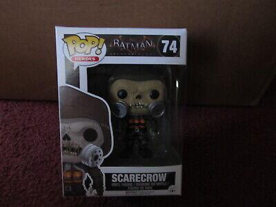 FUNKO Pop Heroes 74 Scarecrow NEW IN BOX Batman Arkham Knight (Scarecrow In Arkham Knight)