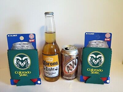 TWO (2) COLORADO STATE RAMS , NEOPRENE POCKET CAN KADDYS FROM KOLDER (Colorado State Rams Pocket)