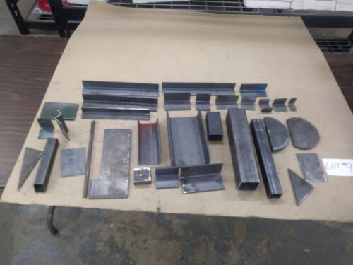 Assorted Pieces Steel Angle, Flat, Square, Rectangle, and/or Channel (LOT #9)