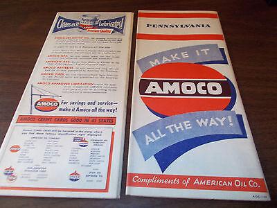 1948 Amoco Pennsylvania Vintage Road Map